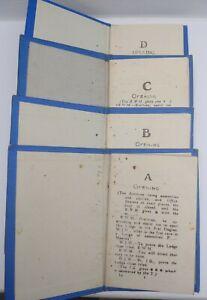 "4 Rare Masonic books  "" Entered apprentice- First + second + Third & MMM Degree"