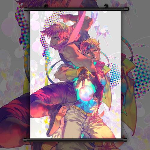 Jojo JoJo's Bizarre Adventure HD Print Anime Wall Poster Scroll Room Decor
