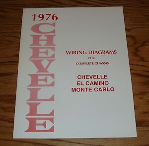 1976 Chevrolet Chevelle Wiring Diagram Manual for Complete ...