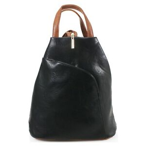 Women-039-s-designer-style-Soft-PU-leather-multi-compartment-Backpack-Rucksack
