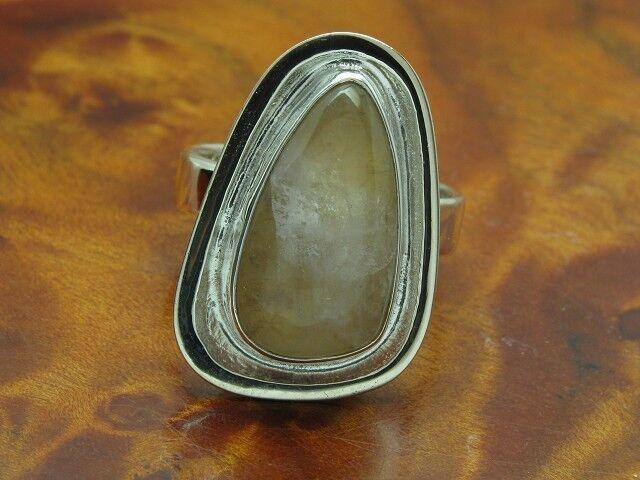 835 silver RING MIT QUARZ BESATZ   ECHTsilver   6,7g   RG 55