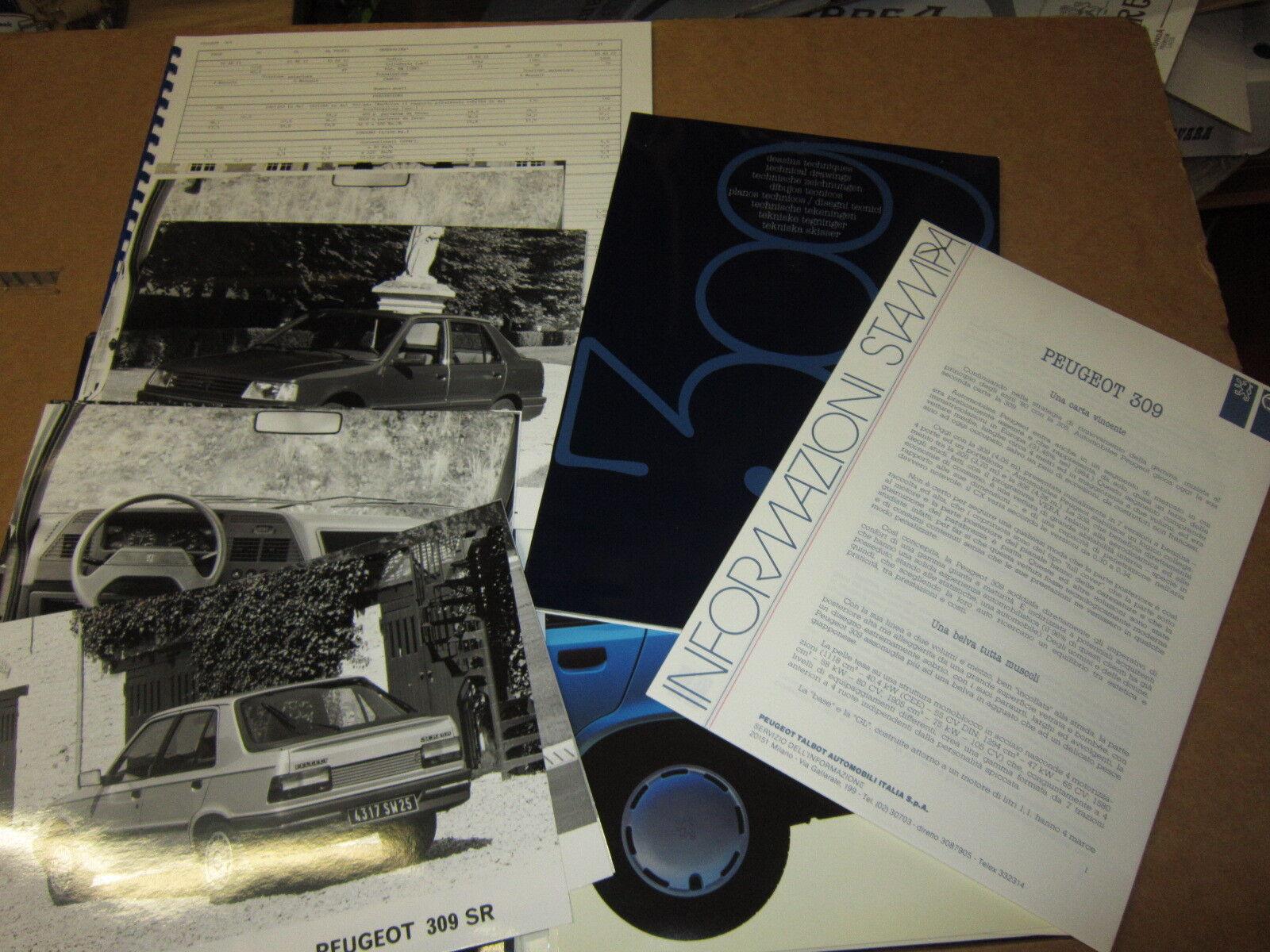 INFORMAZIONI INFORMAZIONI INFORMAZIONI STAMPA PEUGEOT 309 SR ANNO 1979 CON FOTO  marcas de diseñadores baratos