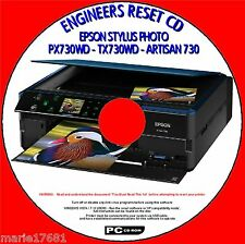 EPSON PX730WD TX730WD & ARTISAN 730 PRINTER WASTE INK PAD RESET UTILITY PCCD NEW