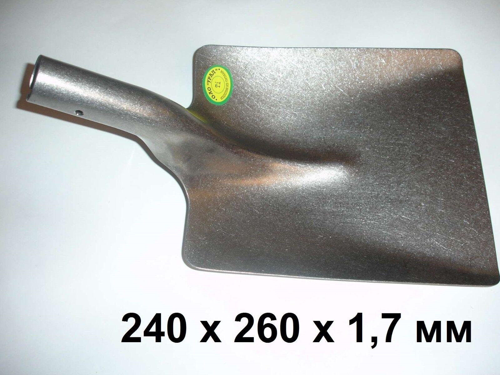 Titanium uneversal Shovel. Big Größe 100% Titanium  Weight  600g
