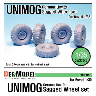 for Revel German UNIMOG Lkw 2T Truck Sagged Wheel set 1:35 DEF.MODEL,DW35046