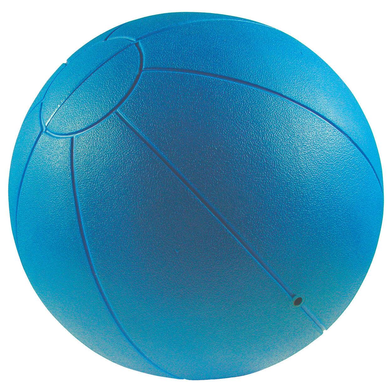 TOGU Medizinball Fitnessball Gewichtsball Rehaball aus Ruton 28 cm, 3 kg, bluee