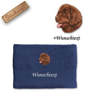 Körper- & Fellpflege Handtuch Duschtuch Baumwolle Stickerei Bestickt Hund Neufundländer Wunschtext Badzubehör & -textilien