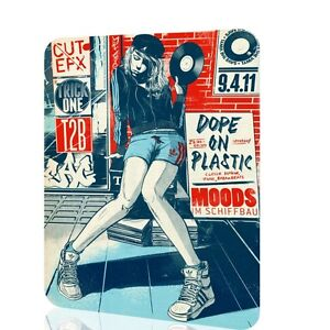 Image Is Loading Metal Sign Dope On Plastic Vinyl Woman Home