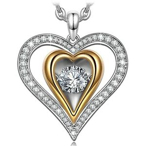 Large 925 Sterling Silver Hallmarked Love Heart Pendant in a Gift Box
