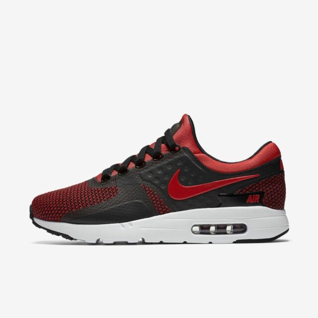the best attitude a6acb 3f393 NIKE AIR MAX ZERO ESSENTIAL 876070-600 UNIVERSITY RED BLACK MESH ULTRA 10.5  11