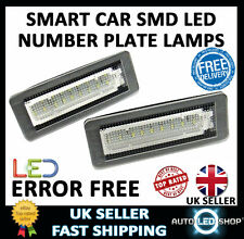 SMART CAR FORTWO 451 COUPE SMD LED XENON WHITE NUMBER PLATE LAMP BULBS UPGRADE
