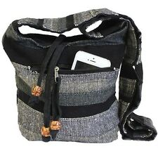 Nepal Sling Bag Bolsa, multi bolsillo, bolso para el hombro, Boho Chic, Hippy, Festival Bolsa