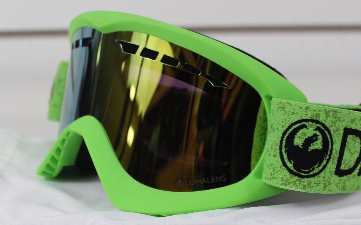 New 2018 Dragon DX Ski Snowboard Goggles Green - gold Ion Lumalens