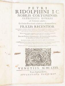 PIETRO-RIDOLFINI-CORTONA-DE-ORDINE-PROCEDENDI-PRAXIS-RECENTIOR-PROCEDURA-1680
