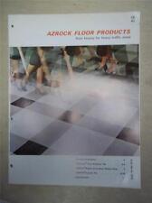 Uvalde Rock Asphalt Co Catalog~Azrock Vina-Lux Vinyl-Asbestos Floor Tile~1962