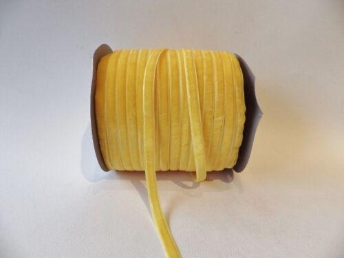 93 Sunflower 5m x 6mm Velvet Ribbon
