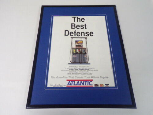 1989 Atlantic Gasoline 11x14 Framed ORIGINAL Vintage Advertisement