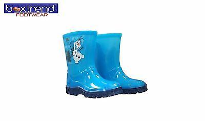 NEW BOYS AND GIRLS FROZEN OLAF WELLINGTONS WATERPROOF RAIN SNOW SIZES 8 - 2