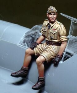 1-32-Resin-WWII-German-Pilot-Only-Figure-Unpainted-Unassembled-BL584