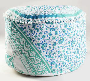 Superb Details About Indian Round Floor Pillow Ombre Mandala Large Pouf Ottoman Cushion Cover Green Lamtechconsult Wood Chair Design Ideas Lamtechconsultcom