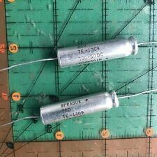 100uf 50v Sprague Axial Electrolytic Capacitor Te1309 105c Free Ship 2pcs