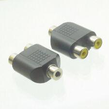 3.5mm Femelle vers 2x RCA Femelle adaptateur y splitter av audio plug converter