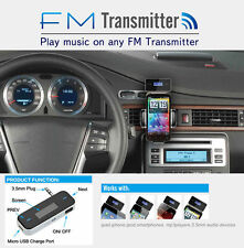 Car Radio FM Transmitter Adapter For 3.5mm MP3 iPod iPhone 4 5s 6S Plus Samsung