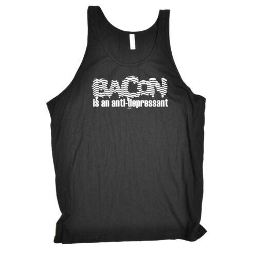 Funny Novelty Débardeur Singlet Top-Bacon est un ANTI-DÉPRESSEUR