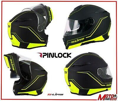 Casco Da Scooter Moto S Line Modulare S550 Doppia Visiera Con Pinlock Integrato