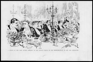 1893-Antique-Print-LONDON-Mansion-House-Lord-Mayor-Banquet-For-Art-23