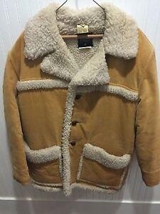 Vintage-Rare-Suede-Faux-Shearling-Coat-Craig-Noble-Sz-M