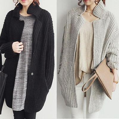 Women Sweater Coat Long Sleeve Knitted Tops Cardigan Casual Loose Outwear