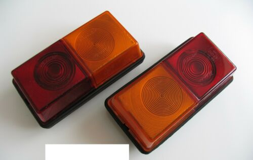 2 RUBBOLITE REPLACEMENT 3 WAY REAR LIGHT TRAILER PARTS TO FIT IFOR WILLIAMS LM