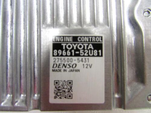 2013 TOYOTA PRIUS C ENGINE CONTROL COMPUTER ECU MODULE 89661-52U81 OEM 12 13 14