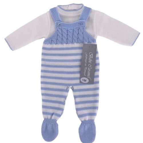 Baby Boy Lovely espagnol Tricot Câble Twist-Tablier Ange 2 Piece Outfit Set
