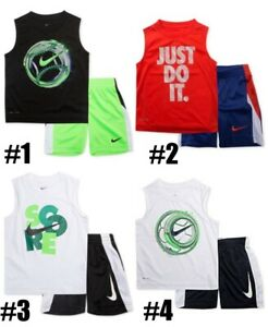 New-Nike-Boys-2-Piece-Tank-Top-and-Shorts-Set-Choose-Color-and-Size