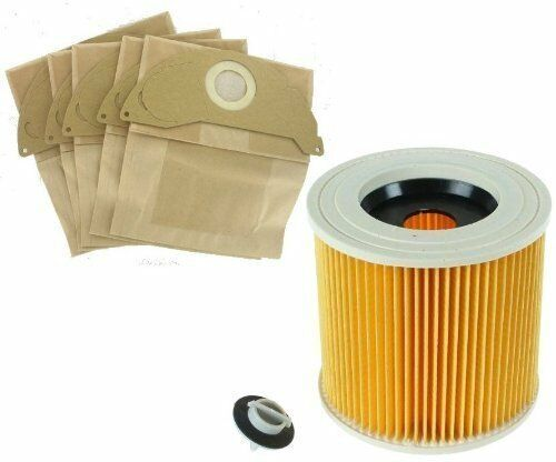 Karcher Wet /& Dry Vacuum Cleaners Bags and Filter Set