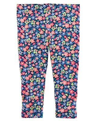 Contemplative Neu Carter's Mädchen Hellen Floral Capri Leggings Stretchhose Nwt 3t 5t 4 5 7 Baby & Toddler Clothing