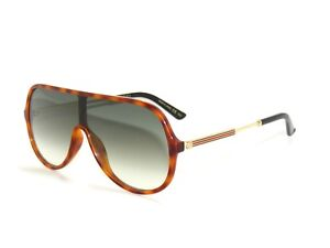 983cc9708c5 Image is loading GUCCI-GG0199S-0199S-AVANA-GOLD-GREEN-004-SunglaSSeS-