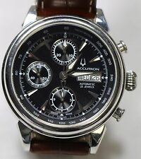 Men's Bulova Accutron Automatic 25 Jewels Valjoux Chronograph 42 mm Face Watch