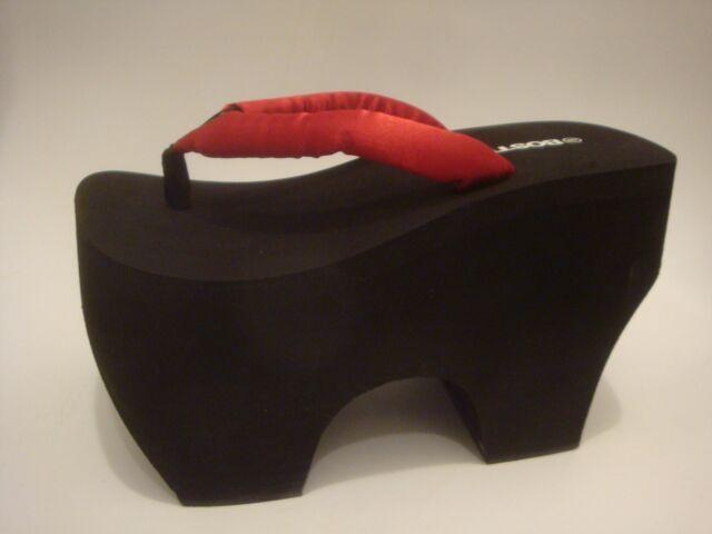 47215f4148b Platform Flip Flop thong Geta sandal Bostek Shoes style 109 4.75 inch