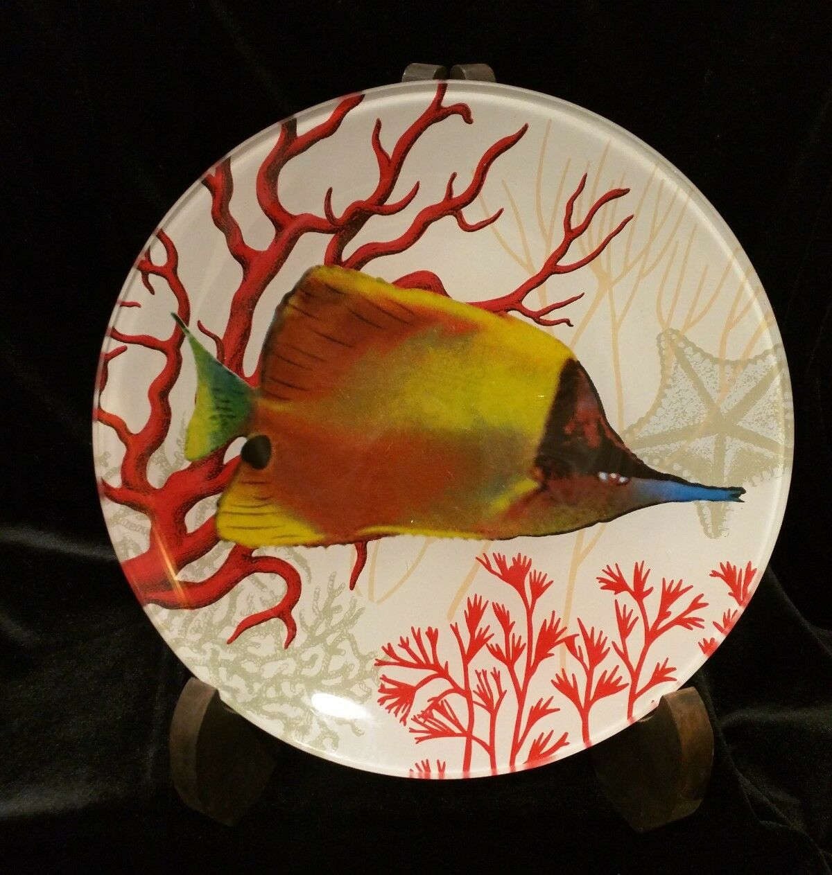 Two's Company Exotic Fish Decorative Glass Plates Plates Plates Set of 5 cf7fe0