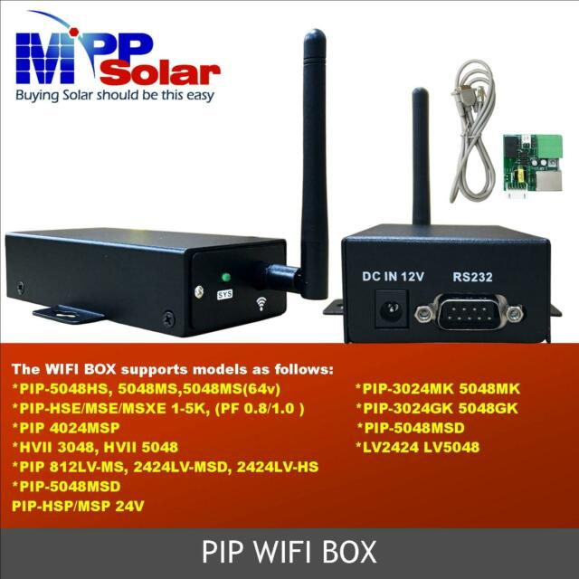 WiFi Box RS232 Remote Monitoring Solution For Off Grid Hybrid Solar Inverter