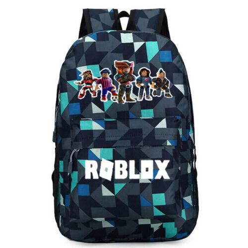 Roblox Backpack Kids School Bag Students Boys Bookbag Handbags Travelbag Blue