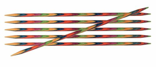KnitPro 10 cm x 2.5 mm Symfonie Double Pointed Needles Multi-Color