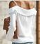 thumbnail 5 - Women Long Flutter Sleeve Off The Shoulder T-shirt Summer Sexy Beach Blouse Tops