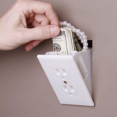 Evelots Hidden Wall Outlet Diversion Safe Fake Safe to Hide Cash and Valuables