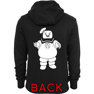 Ghostbusters Inspired Staypuft Marshmallow Man Screen-Printed Zip-Up Hoodie
