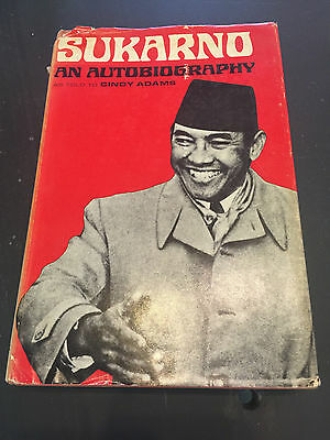 Sukarno, by Cindy Adams - 1965 - 1st Ed., 1st Ptg. Vintage Hardcover Book