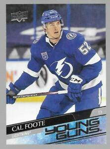 2020-21 Upper Deck Young Guns Cal Foote Rookie # 476 NM/MT RC